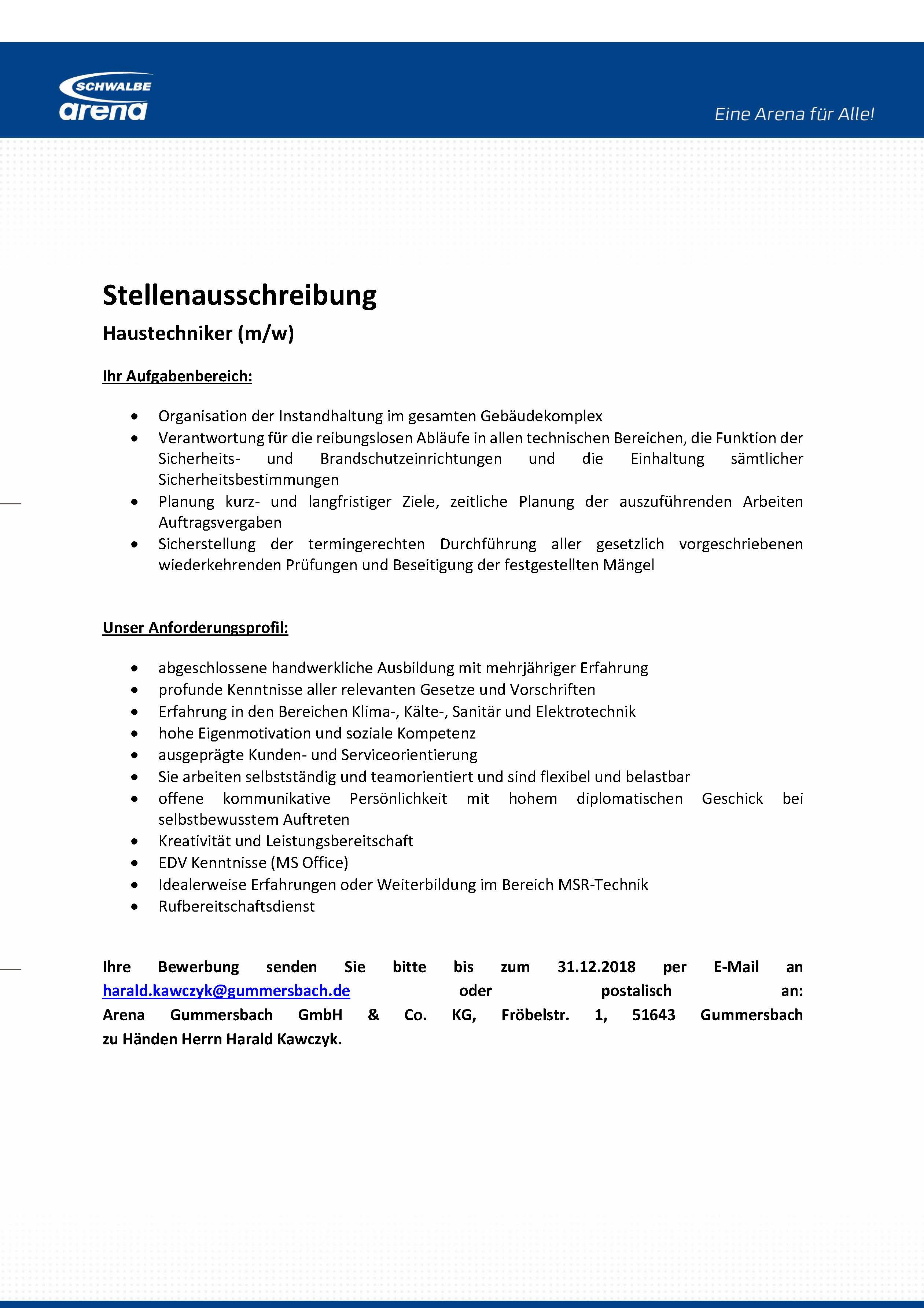 Stellenauschreibung_Haustechniker_12.2018